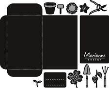 Marianne Design CRAFTABLES Cut & Embossing Die SEED POCKET & GARDEN TOOLS CR1395