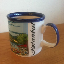 """Istanbul Coffee Mug  Orpakoy  Cute  Sketches of Famous Sites   3 1/4"""""""