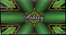 CHECKBOOK COVER PERSONALIZED SHADES OF GREEN DESIGN