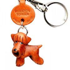 Wheaten Terrier Handmade 3D Leather Key chain/ring *VANCA* Made in Japan #56787