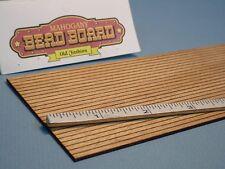 "Dollhouse Miniature Old Fashion Bead Board 1/8"" Spacing Mahogany Laser Creations"