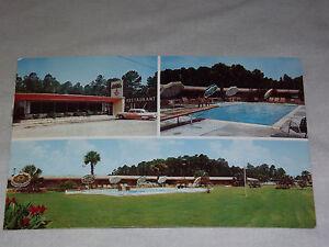 VINTAGE 1962 GOLD HOUSE MOTOR LODGE NAHUNTA GA POSTCARD