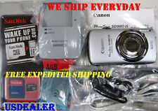 Mint! Canon PowerShot SD980 IS 12.1MP SD 980 with 4GB Card -- Touch Screen!!