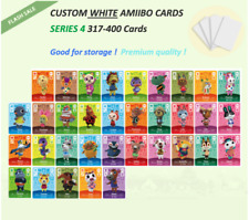 Series 4 Custom White NFC Amiibo Cards for Animal Crossing 301-400
