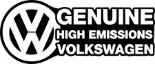VW High emissions vinyl decal sticker t4 t5 camper golf polo passat beetle euro