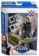 WWE SETH ROLLINS ELITE 37 WRESTLING FIGURE 2015 MITB BRIEFCASE SHIELD NEW ATTIRE