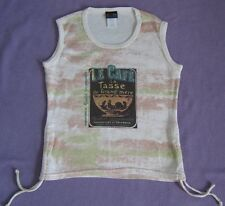 Rare Threads Le Cafe USA Cotton Vest Tank T-Shirt Top Girls Age 8 9 10 Chest 30