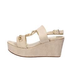 scarpe donna OLGA RUBINI 36 EU sandali beige camoscio AF791