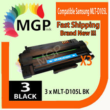 3 BLACK LASER TONER fits Samsung MLT-D105S for SCX-4623FW SCX-4623F PRINTER