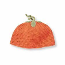 Janie and Jack Pumpkin Sweater Beanie Hat - Orange - Size 12 to 18 Months