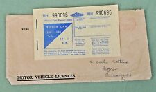 Vintage 1970s Motor Car Fuel Ration Book 1101-1500cc 10-13hp Original Enverlope