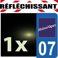 DEPARTEMENT 07 rétro-réfléchissant Plaque Auto 1 sticker autocollant reflectif