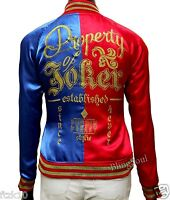 Womens Harley Quinn Jacket Red And Blue Suicide Squad Halloween Costume