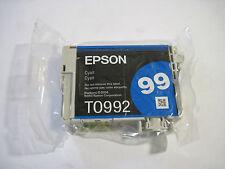 New GENUINE Epson 99 Cyan Ink Cartridge (Epson T099220, T0992) FAST FREE SHIP!!!
