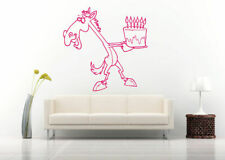 Wall Art Vinyl Sticker Room Decal Mural Decor horse cake birthday candle bo1729