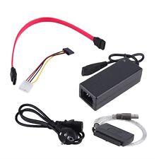 USB 2.0 to IDE SATA S-ATA 2.5 3.5 HD HDD Hard Drive Adapter Converter EU Plug JV