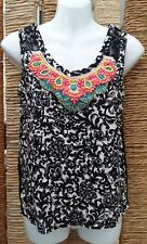 RIVER ISLAND Ladies Floral Beaded Lace Back Sleeveless Top Size 8