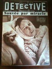 DETECTIVE 17/01/1955 Arras; Alice Buisine échappe aux coups de révolver/Onasis