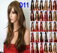 Women Long Curly Full Wig Natural Synthetic Hair Heat Resistant Costume Cosplay