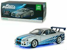 Nissan Skyline GT-R34 With real Neon Light Movie Fast & and Furious 1:18 Greenli