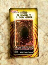3 Booster Packs Blister + 1 Foil Card Yu-Gi-Oh! TCG