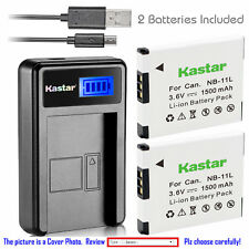 Kastar Battery LCD Charger for Canon NB-11L NB-11LH & Canon A2300 Canon A2400 IS