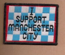 Manchester City FC I Support Manchester City vintage 1970s SEW-ON PATCH