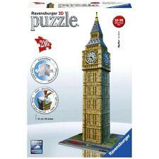 RAVENSBURGER. 3D PUZZLE. BIG BEN. 216 PCS. ITEM NR. 12554 NEW