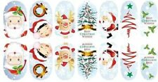 USA (14) 3D Christmas Nail Wrap Stickers   Full Cover NAIL ART STICKERS