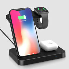 US 3 IN 1 15W Fast Qi Wireless Charger Dock For iWatch 5/4/3/2/1 iPhone 11 XS XR