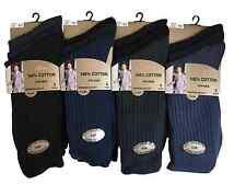 Alca 100%25 Cotton Premium Quality Soft Top Elastic Mens UK 6-11 Dark Asstd Socks