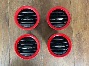 Vauxhall Corsa D VXR 07 - 14 Red Dashboard Air Vents Set Of 4