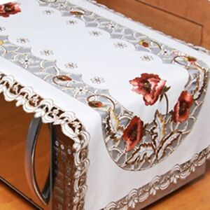 Reusable Rectangle Embroidered Lace Retro Style Tablecloth Family Dinner Party