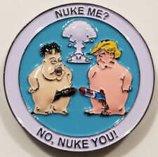 US President Donald Trump vs Kim Jong Un Nuke You Challenge Coin (non NYPD)