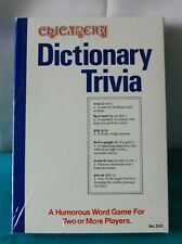 NIP Vintage CHICANERY Dictionary Trivia Word Game 1979 New Sealed