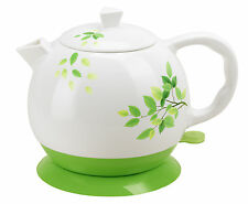 Electric Ceramic Kettle Electric Ceramic Kettle Teapot Water Boiler Olive Teapot