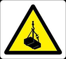 Health and Safety Warning Sticker yellow Warning Overhead Load Sticker