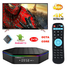 2018 NEW Android 7.1 Nougat 2+16GB DDR4 S912 Octa Core 4K Smart TV BOX 3D Sports