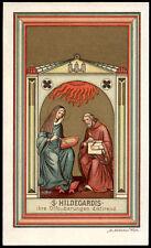 antico santino cromo-holy card S.ILDEGARDA DI BINGEN