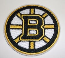 "Boston Bruins Embroidered Patch~3 7/16"" Round~Iron or Sew~US Seller~Ships FREE"