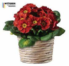 Aufkleber Wandaufkleber Fensteraufkleber Blume Topf Rot Blüten Pflanzen Blumen