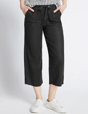 Marks and Spencer Linen Regular Loose Fit Trousers for Women