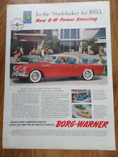 1953 Studebaker V-8 Commander Starliner Ad Borg-Warner