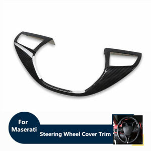 Carbon Fiber Steering Wheel Cover Trim For Maserati Levante 16-17 Ghibli 13-16
