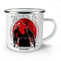 Keep Eyes Open NEW Enamel Tea Mug 10 oz   Wellcoda