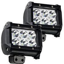 2x 4inch 18W CREE LED Work Light Bar Flood Offroad 4WD UTE ATV Fog Driving Lamp