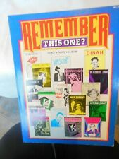 Remember This One? Voice/Piano/Guitar Song Book