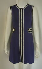 LILLY PULITZER Violet Blue Rayon Blend Black & White Trimming Dress Size S