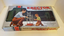 VINTAGE A.C. GILBERT ERCTOR SET NO 4 WITH BOX (GOOD CONDITION)