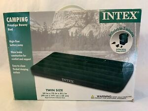 Intex - 66967E - Prestige Downy Airbed Kit with Hand Held Battery Pump, Twin New